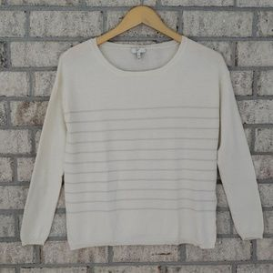 Joie Wool & Cashmere Blend Sweater with Stripes